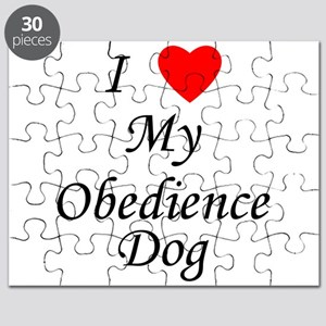 I Love My Obedience Dog Puzzle