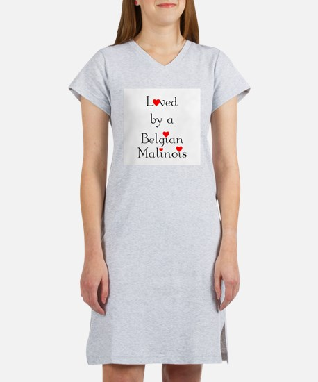 Loved by a Belgian Malinois Women's Nightshirt