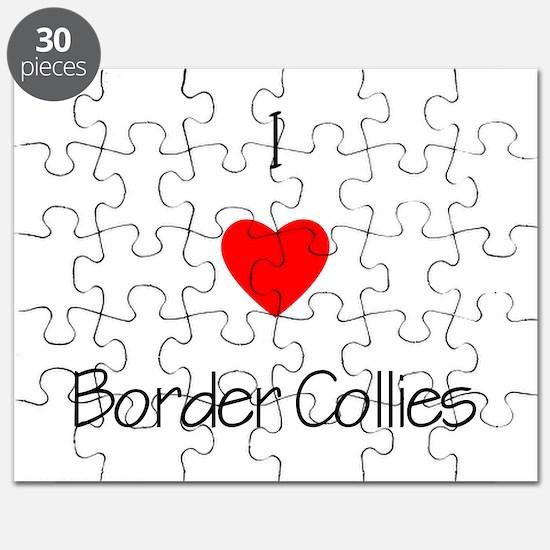 I Love Border Collies Puzzle