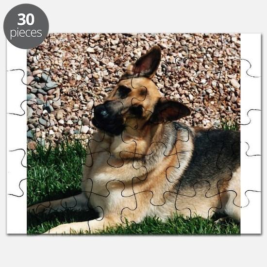 Quizzical German Shepherd Dog Puzzle