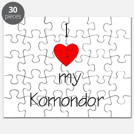 I Love My Komondor Puzzle