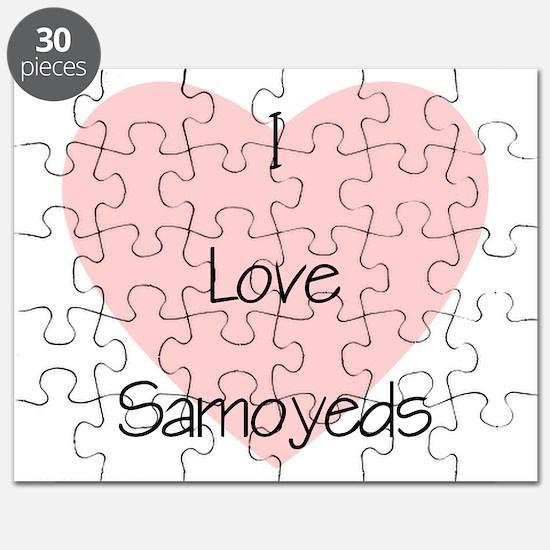 I Love Samoyeds Puzzle