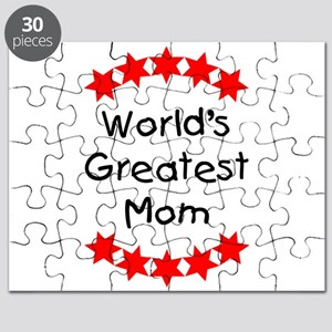 World's Greatest Mom (red stars) Puzzle