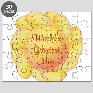 World's Greatest Mum (yellow Puzzle