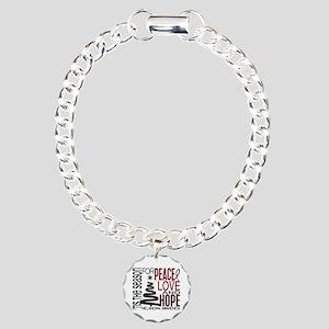 Christmas 1 Melanoma Charm Bracelet, One Charm