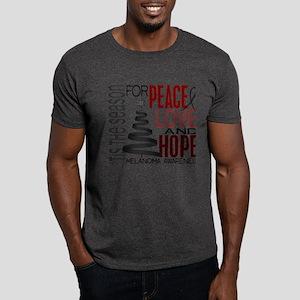 Christmas 1 Melanoma Dark T-Shirt