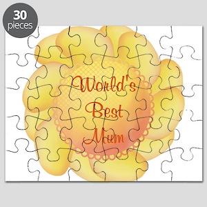 World's Best Mum (yellow flow Puzzle