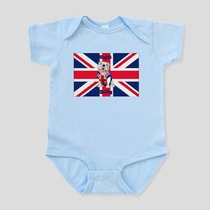Union Jack English Bulldog Body Suit