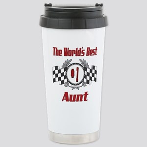 Racing Aunt Stainless Steel Travel Mug