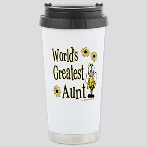 Aunt Bumble Bee Stainless Steel Travel Mug