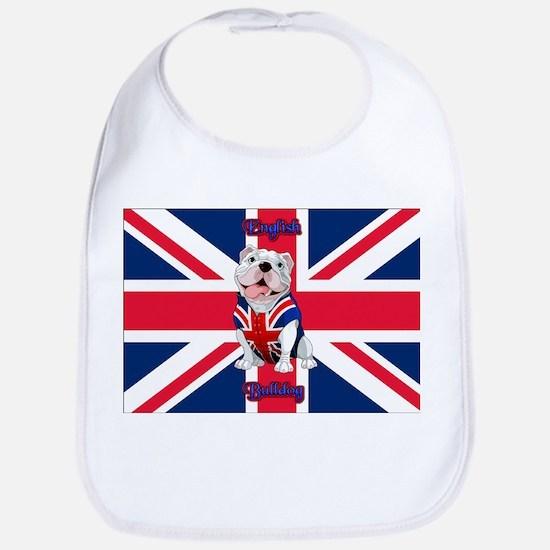 Union Jack English Bulldog Baby Bib