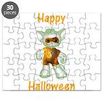 Happy Halloween Ghost Kitten Puzzle