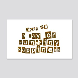 Sunshiny Happiness 22x14 Wall Peel