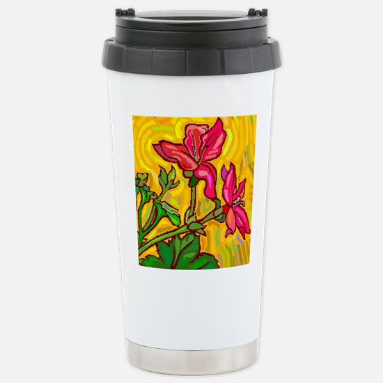Floral Brights Stainless Steel Travel Mug