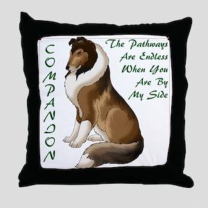 Collie Companion Throw Pillow