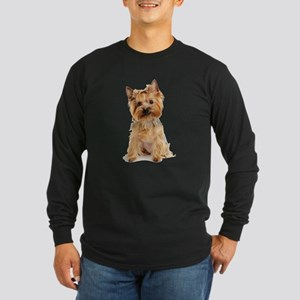 Yorkie Long Sleeve Dark T-Shirt