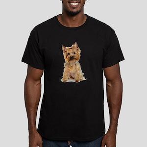 Yorkie Men's Fitted T-Shirt (dark)