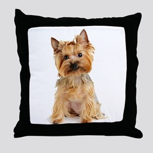 Yorkie Throw Pillow
