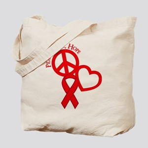 Peace,Love,Hope Tote Bag (both sides)