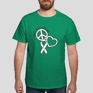 Peace,Love,Courage Dark T-Shirt