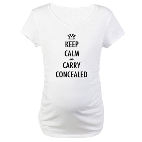 Carry Concealed Maternity T-Shirt