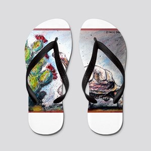 45ba0f8d957c Desert Tortoise Flip Flops - CafePress