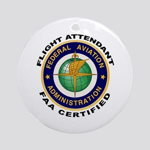 Flight Attendant Ornament (Round)