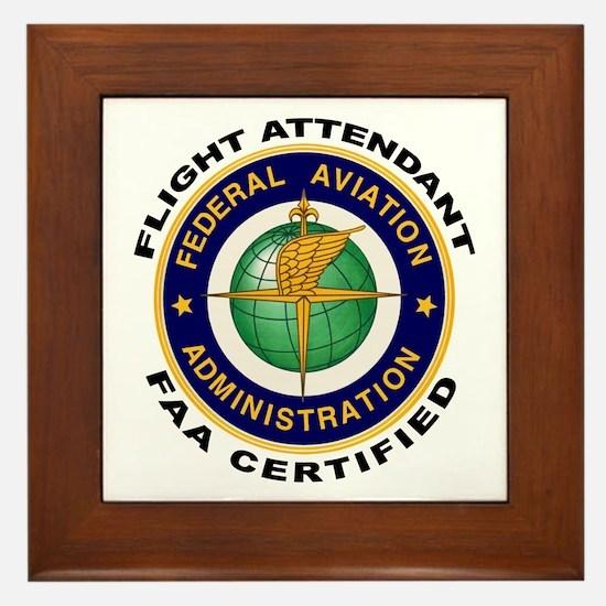 Flight Attendant Framed Tile