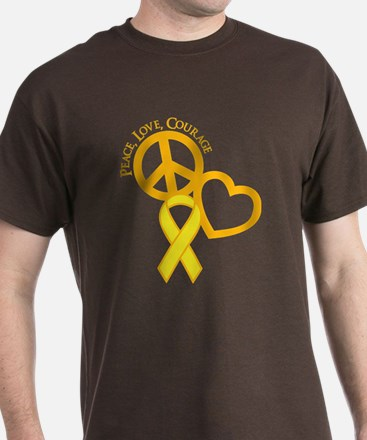 Peace,Love,Courage T-Shirt