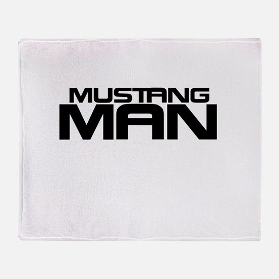 New Mustang Man Throw Blanket