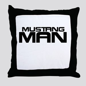 New Mustang Man Throw Pillow