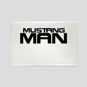 New Mustang Man Rectangle Magnet