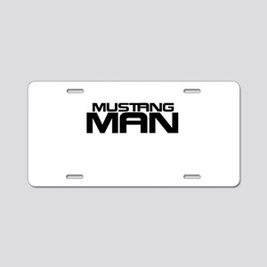 New Mustang Man Aluminum License Plate