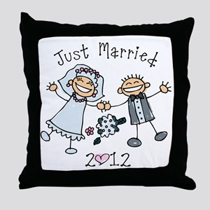 Stick Just Married 2012 Throw Pillow
