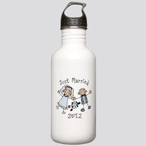Stick Just Married 2012 Stainless Water Bottle 1.0
