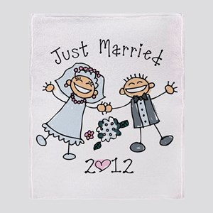 Stick Just Married 2012 Throw Blanket