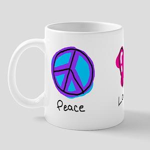 Peace Love and Cats Mug