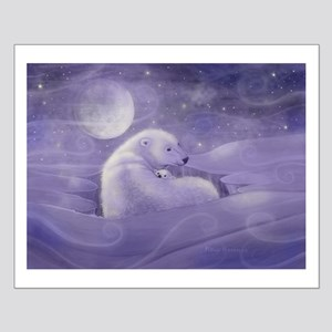 Polar Bear and Cub Wildlife Fantasy A Small Poster