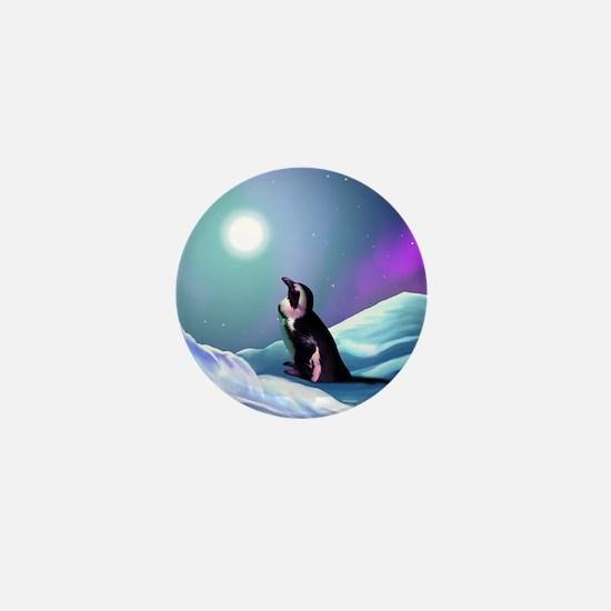 Contemplative Penguin Mini Button