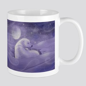 Polar Bear and Cub Wildlife Fantasy Art Mug