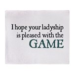 Jane Austen Game Throw Blanket