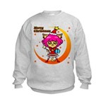 Xmas cat Kids Sweatshirt