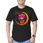 Xmas cat Men's Fitted T-Shirt (dark)