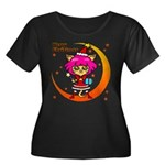 Xmas cat Women's Plus Size Scoop Neck Dark T-Shirt