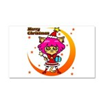 Xmas cat Car Magnet 20 x 12