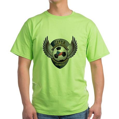 Czech soccer ball with crest Green T-Shirt