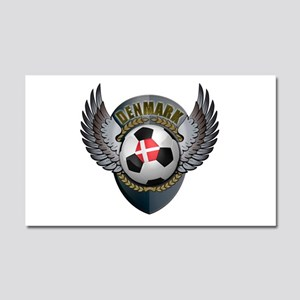 Danish soccer ball with crest Car Magnet 20 x 12
