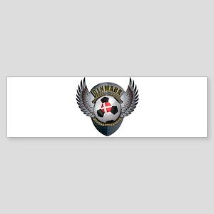 Danish soccer ball with crest Sticker (Bumper)