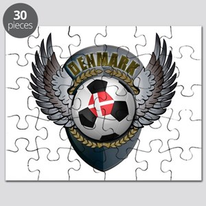 Danish soccer ball with crest Puzzle