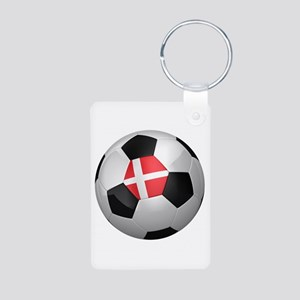 Danish soccer ball Aluminum Photo Keychain